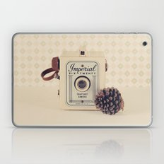 Imperial Autumn Camera with Pine Cone (Retro Still Life Photography)  Laptop & iPad Skin