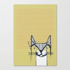 Cubist Cat Study #6 by Friztin Canvas Print