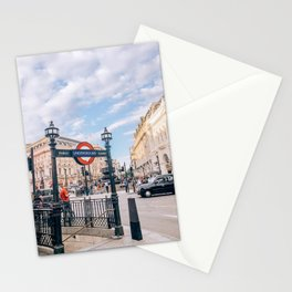 London's Piccadilly Circus Stationery Cards