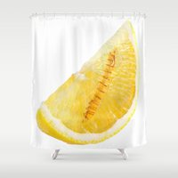 tequila Shower Curtains featuring Tequila Lemon by Stultified