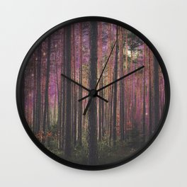 COSMIC FOREST UNIVERSE Wall Clock