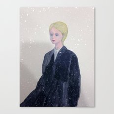 it's snowing in my mind. Canvas Print