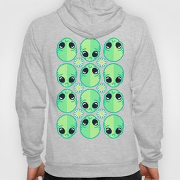 Sad Alien and Daisy Nineties Grunge Pattern Hoody