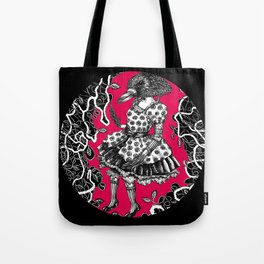 Crow Serie :: Aglaé (red) Tote Bag