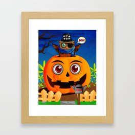 Halloween Owl Framed Art Print