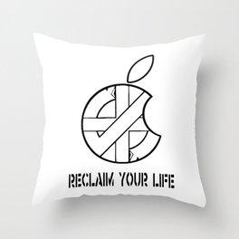 Reclaim Your Life W/B Throw Pillow