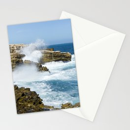 St Lucia rocky shore Stationery Cards