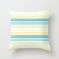 knit Throw Pillows featuring Knit 1 by K&C Design