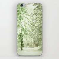 narnia iPhone & iPod Skins featuring Winter Pine Trees by Olivia Joy StClaire