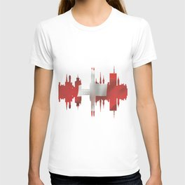 Zurich city silhouette. T-shirt