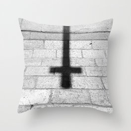 Religion is a 'No Loading at Any Time' road sign. Throw Pillow