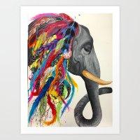 Chief Elephant Art Print