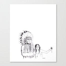 Please Smile Canvas Print