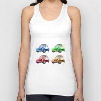 cars Tank Tops featuring cars beetles  by mark ashkenazi