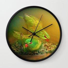 Garden Visitors Wall Clock