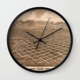 Map Of Salt Lake City 1875 Wall Clock