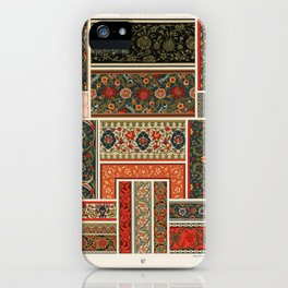 Indo-Persian pattern from L'ornement Polychrome (1888) by Albert Racinet (1825–1893).2 iPhone Case