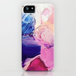 Saturday Night (Abstract Painting) iPhone Case