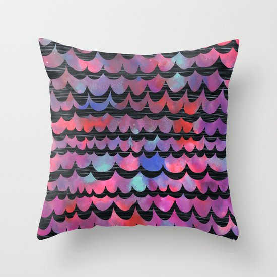 WAVES - Purple Throw Pillow