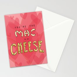 You're the Mac to my Cheese Stationery Cards