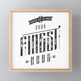 Finest Hour Framed Mini Art Print