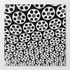 hollywood & vine film spools Canvas Print