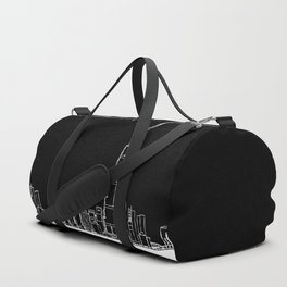 Dubai Skyline - Black Base Duffle Bag
