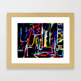 The Wired City Framed Art Print