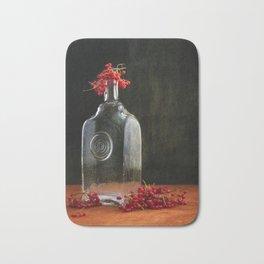 Still life with red Viburnum Bath Mat