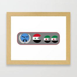 United Nations is watching Syria Framed Art Print