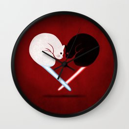 Lightside vs Darkside Wall Clock