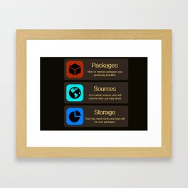 Cydia Manage Framed Art Print