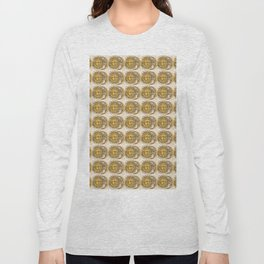Sun and Moon Face Pattern 3 Long Sleeve T-shirt