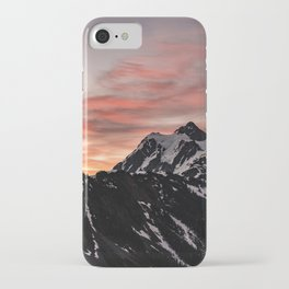 Pink Sky - Cascade Mountains - Nature Photography iPhone Case