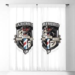 Vintage Barbershop Emblem Blackout Curtain