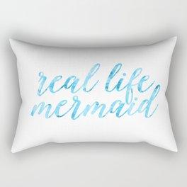 real life mermaid Rectangular Pillow