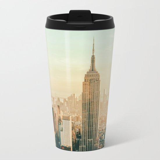New York City Skyline Dreams Metal Travel Mug
