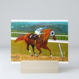Race horse Secretariat Tripple Crown Winner Mini Art Print