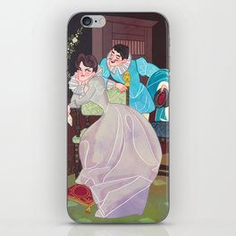 A lover's spat iPhone Skin