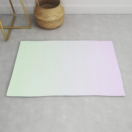 Color gradient 15. Violet and green. abstraction,abstract,minimalism,plain,ombré Rug