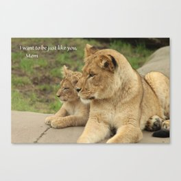 Just Like You Canvas Print
