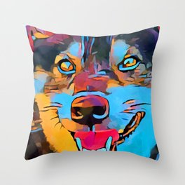 Shiba Inu 3 Throw Pillow