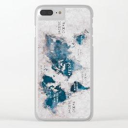 world map 13 #worldmap #map #world Clear iPhone Case