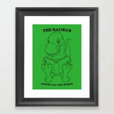 Thesaurus Framed Art Print