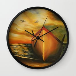 offset the coast Wall Clock