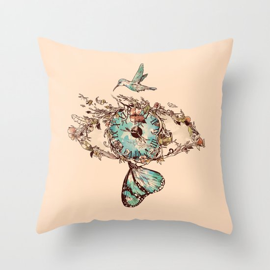 Watching the Passage of Time Throw Pillow
