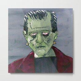 Frankenstein's monster hides in my garage Metal Print