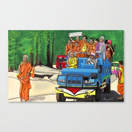 Truckin' Monks Canvas Print