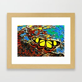 Butterfly, colorful butterfly, watercolor, color splash butterfly Framed Art Print