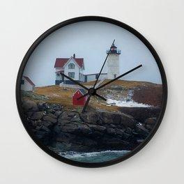 Cape Neddick Light Wall Clock